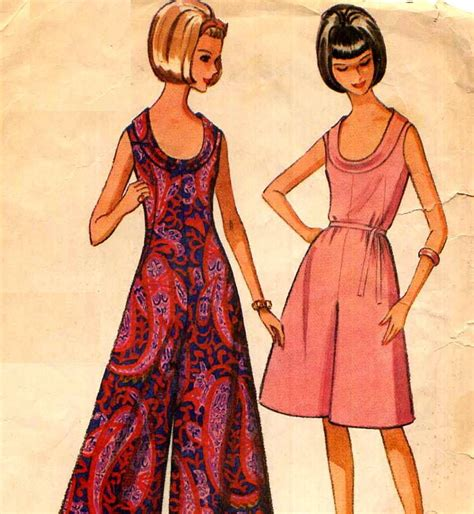 jumpsuit pattern mccalls mod palazzo jumpsuit sewing pattern vintage 1960 s mccalls