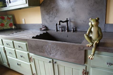 cement kitchen sink garden sink eclectic kitchen by bdwg
