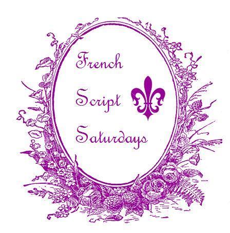 french script l shawkl french script saturday l