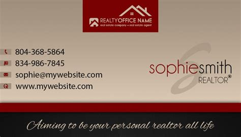 real estate business cards template realtor business
