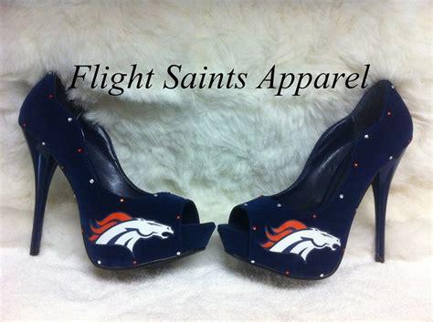 denver broncos high heels denver bronco heels i adore these shoe box