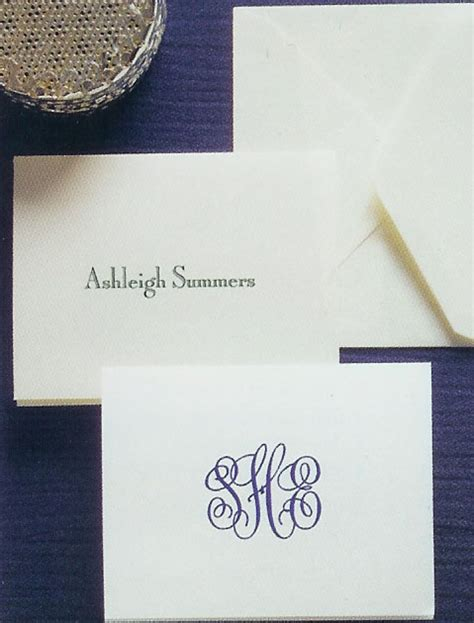 Embossed Gift Enclosure Cards - embossed stationery