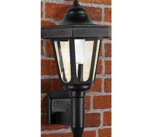 solar lights argos buy home black solar outdoor wall light at argos co uk