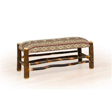 rustic bench rustic hickory and oak