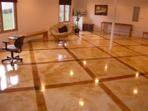 Concrete Floor Ideas Indoors Fabulous Glossy Light Brown Staining Indoor Concrete Floors Design Ideas Staining Indoor