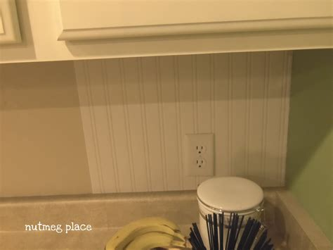 peel and stick beadboard beadboard backsplash using wallpaper 4 real