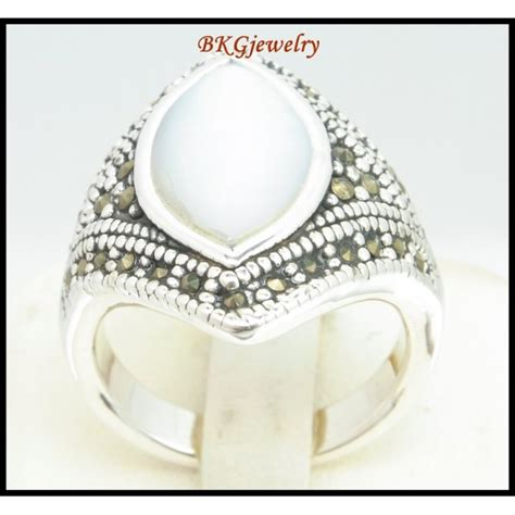 silver electroforming jewelry marcasite jewelry 925 sterling silver electroforming ring
