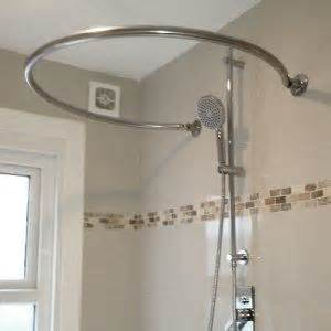 Shower Curtain Rails For Freestanding Baths by Best 25 Shower Rail Ideas On