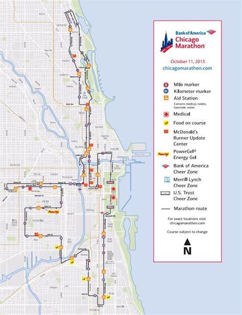 chicago marathon map bank of america chicago marathon oct 07 2018 world s