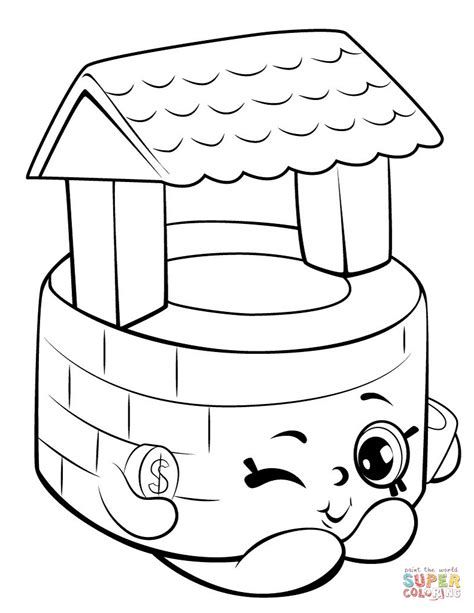 coloring page water well penny wishing well shopkin coloring page free printable
