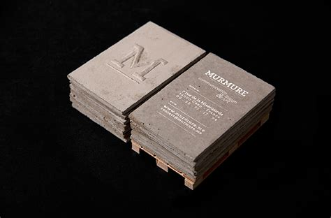murmure project concrete business cards