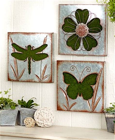 outdoor themed home decor galvanized garden themed wall art ltd commodities
