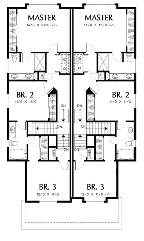 t shaped house floor plans t shaped staircase in cottage duplex 69243am 2nd floor