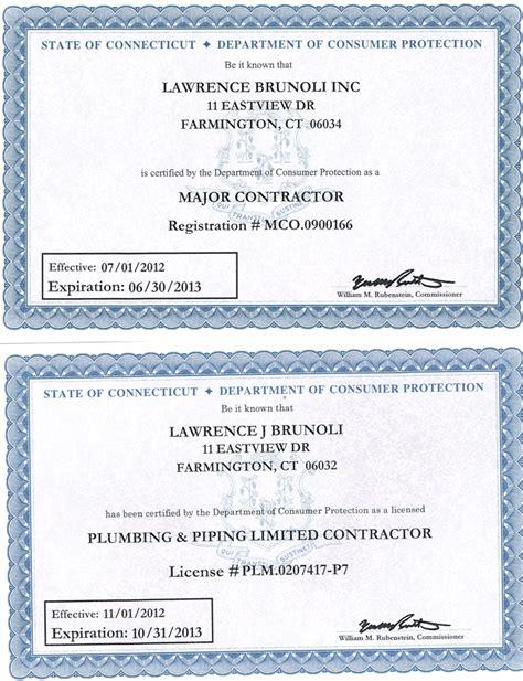Plumbing Contractors License by Plumbing Contractor License Hawaii Plumbing Contractor