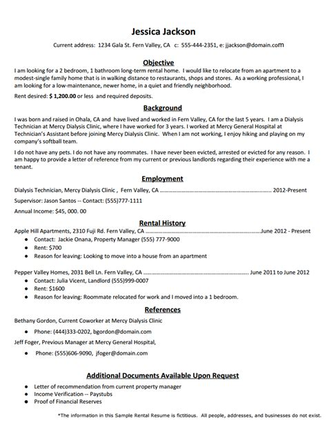 rental cover letter exle how to create the rental resume