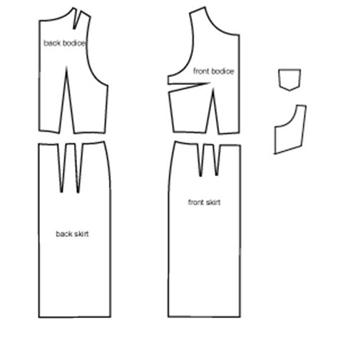 dress pattern pieces pinafore dress pdf sewing pattern by angela kane