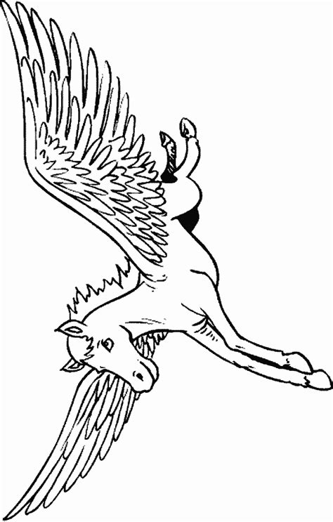 Learn To Coloring February 2011 Pegasus Coloring Pages