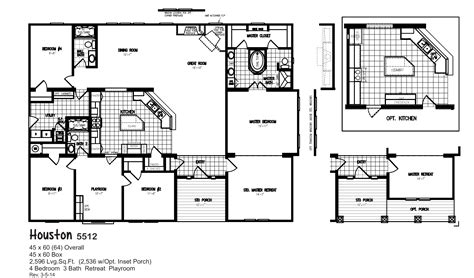 oak creek modular home floor plans houston 5512 oak creek homes