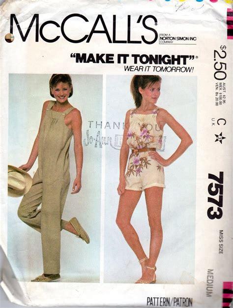 pinterest jumpsuit pattern easy 1980s women s jumpsuit bib overalls pattern by