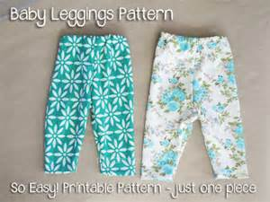 Sew your own baby clothes baby leggings pattern