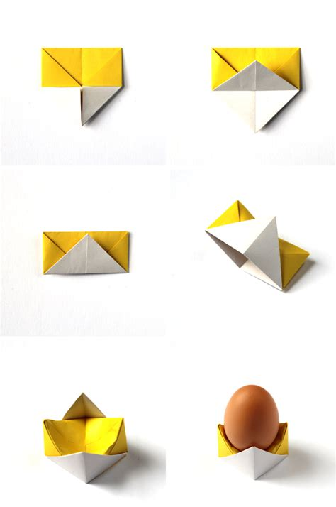 Origami Cup - diy origami egg cups gathering