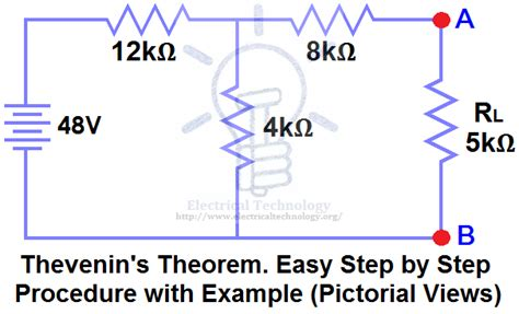 thevenin s theorem step by step procedure with exle