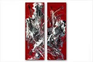 Ordinaire Chambre A Coucher Rouge #8: tableaux-modernes-vibrationsdiptyque-rouge.jpg