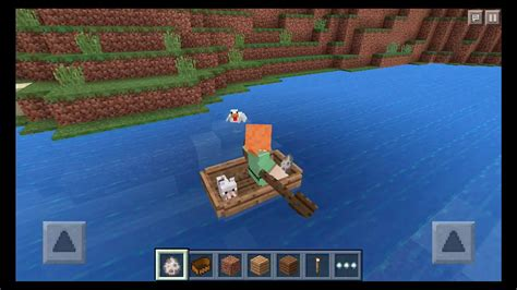 minecraft dog on boat minecraft pe 0 11 0 update boat ride with my pet in mcpe