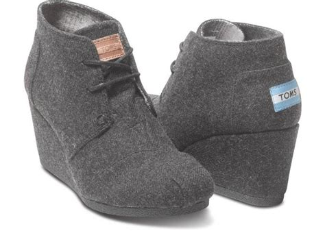 high heeled toms grey wool s desert wedges from toms walk in my