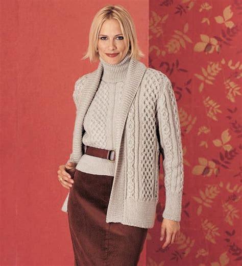 shawl cardigan knitting pattern shawl collar cardigan turtleneck vkf0244 by vogue knitting