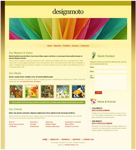 Premium Free Dreamweaver Templates Downloads Dreamweaver Website Templates