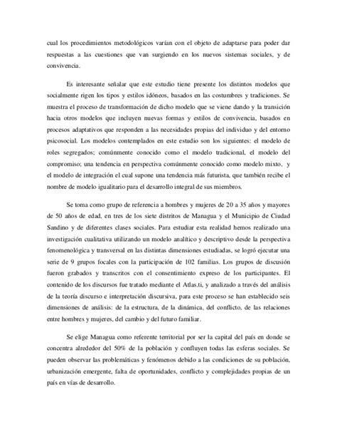 la transformacin viene desde dentro del sistema muhammad yunus psicologia social de la familia nicaraguense una mirada