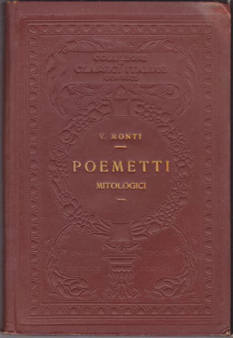 utet sede monti vincenzo poemetti mitologici classici italiani