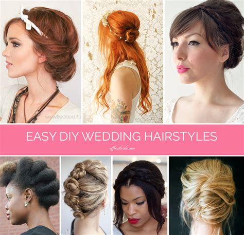bridal hairstyles diy braids twists and buns 20 easy diy wedding hairstyles