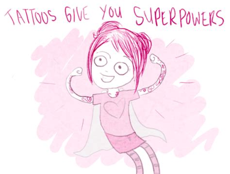 tattoo flash kate leth tattoos give you super powers by kate leth so