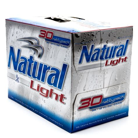 natural light natural light beer 12oz can 30 pack beer wine and