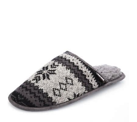 muk luks slippers uk muk luks s knit gavin slippers page 1 qvc uk