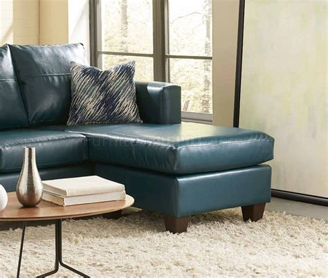 bicast leather sofa 3007 sectional sofa in teal bicast