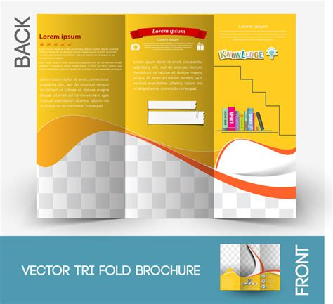free template brochure brochure template free vector in adobe illustrator ai