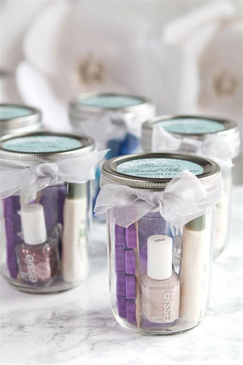 pedicure   jar bridal shower favors wedding inspiration