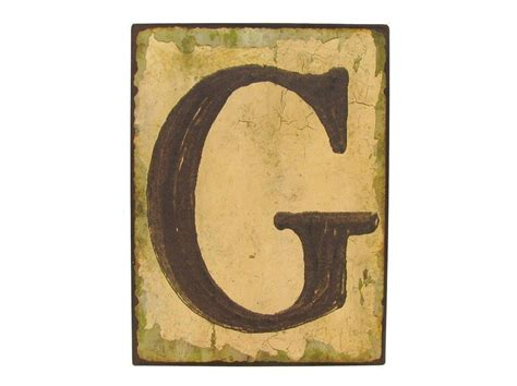 Outdoor Letters by Vintage Distressed Metal Sign Letter G Wall Decor Outdoor Nautical Sign What S It Worth