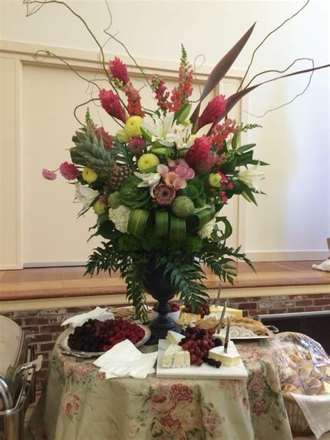 17 Best Images About Hotel Lobby Flower Arrangements On Buffet Table Setting Arrangement