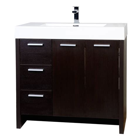 5 Bathroom Vanity Buy 35 5 Quot Modern Bathroom Vanity In Espresso Tn Ly900 L Wg Conceptbaths