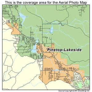 pinetop arizona map aerial photography map of pinetop lakeside az arizona