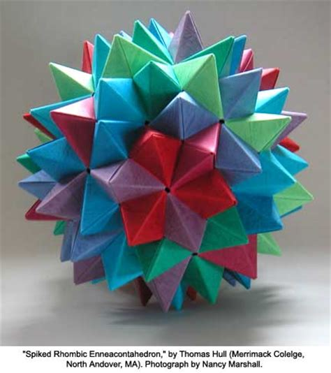 The Mathematics Of Origami - hull the mathematics of origami spiked rhombic