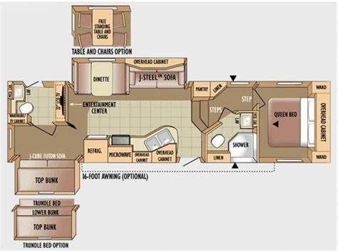 bunkhouse rv floor plans fifth wheel bunkhouse 2 bathrooms images