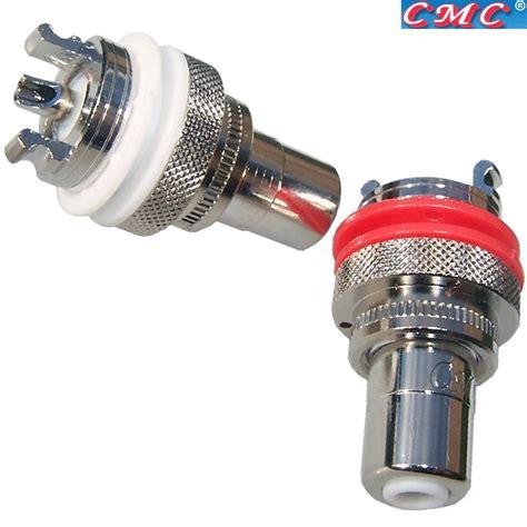 Rca Cmc K cmc 805 2 5 cur rh rhodium plated rca sockets hifi collective