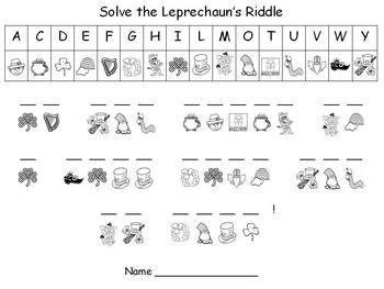 s day secret message st s day leprechaun s secret message puzzle by