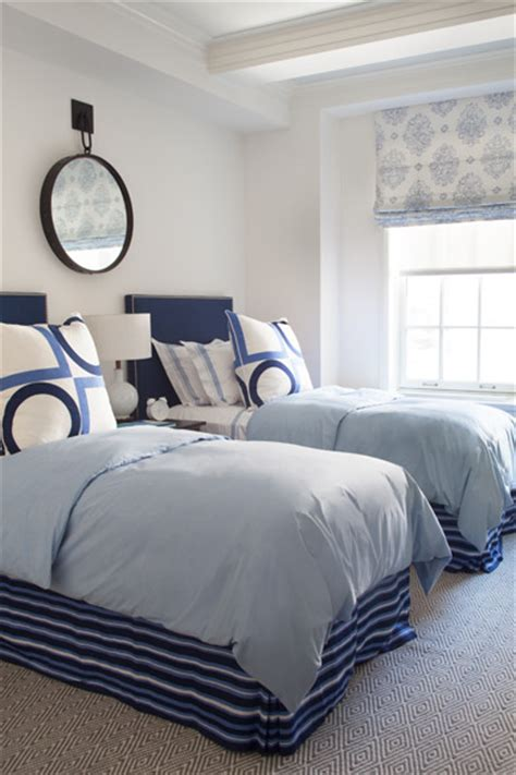 twin beds boy s room tufted headboards kids rooms twin blue headboard cottage boy s room philip house nyc