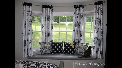 bay window curtain rod diy diy bay window curtain rod ideas youtube